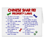 CHINESE SHAR PEI Property Laws 2 Cards
