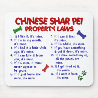 CHINESE SHAR PEI Property Laws 2 Mouse Pad