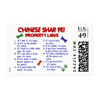 CHINESE SHAR PEI Property Laws 2 Postage Stamp