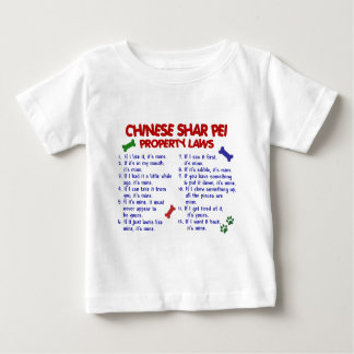 CHINESE SHAR PEI Property Laws 2 Tee Shirts