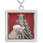 Chinese shar pei puppy necklace