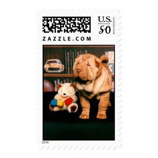 Chinese Shar-pei Puppy Stamps