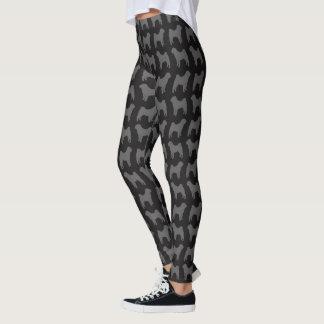 Chinese Shar Pei Silhouettes Pattern Leggings