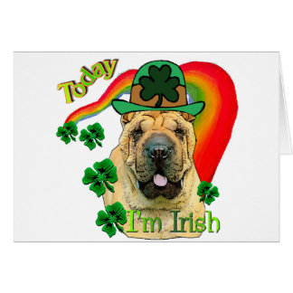 Chinese Shar-pei St. Pattys Greeting Card