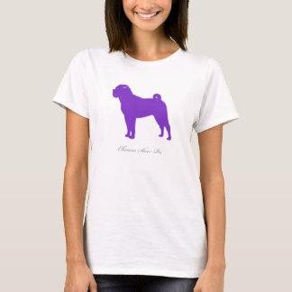 Chinese Shar-Pei T-shirt (purple silhouette)