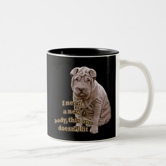 Chinese shar Pei Two-Tone Coffee Mug