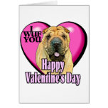 Chinese Shar-pei Valentines Day Greeting Card