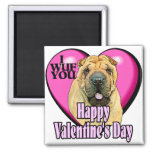 Chinese Shar-pei Valentines Day Magnet