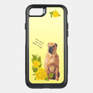 Chinese Shar-Pei, with Yellow Roses OtterBox Commuter iPhone 7 Case
