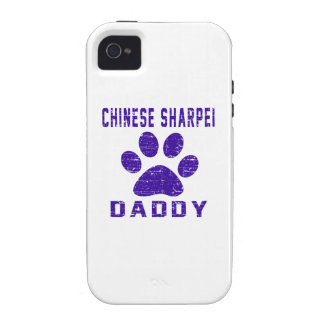Chinese Sharpei Daddy Gifts Designs Case-Mate iPhone 4 Cases