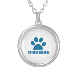 CHINESE SHARPEI DOG DESIGNS SILVER PLATED NECKLACE