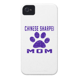 Chinese Sharpei Mom Gifts Designs Case-Mate iPhone 4 Case