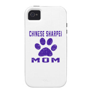 Chinese Sharpei Mom Gifts Designs Case-Mate iPhone 4 Cases