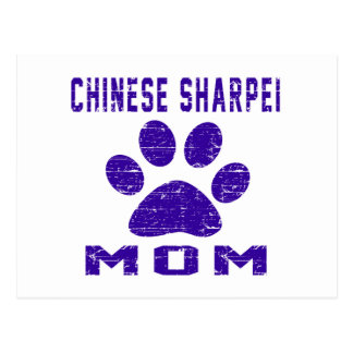 Chinese Sharpei Mom Gifts Designs Postcard