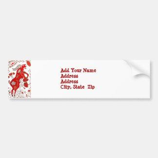 Chinese Sheep Astrology Bumper Sticker