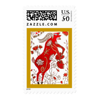 Chinese Sheep Astrology Postage