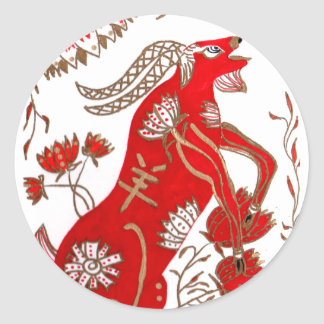 Chinese Sheep Astrology Classic Round Sticker
