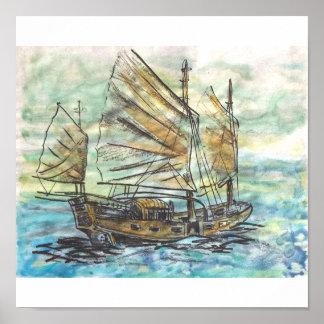 Chinese Ship Canvas Print