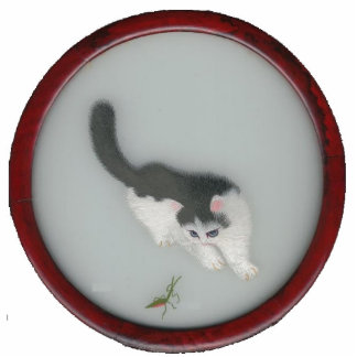 Chinese Silk Cat Picture Cutout