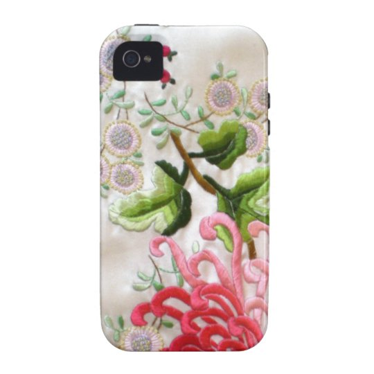 Chinese Silk Embroidery Vibe iPhone 4 Cover