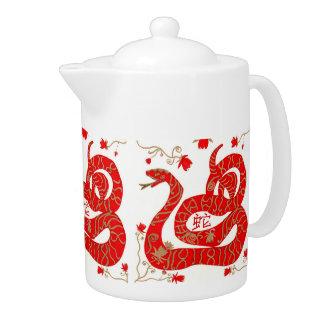 Chinese Snake Zodiac Teapot