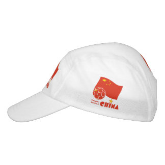 Chinese Soccer Ball and Flag Headsweats Hat