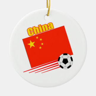 Chinese Soccer Team Ceramic Ornament
