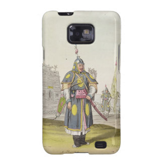 Chinese soldier in full battle dress, illustration samsung galaxy SII covers