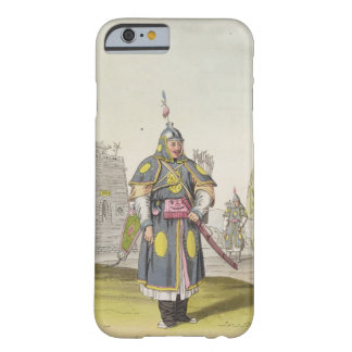 Chinese soldier in full battle dress, illustration barely there iPhone 6 case