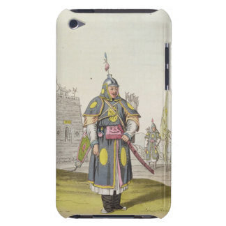 Chinese soldier in full battle dress, illustration iPod touch cases