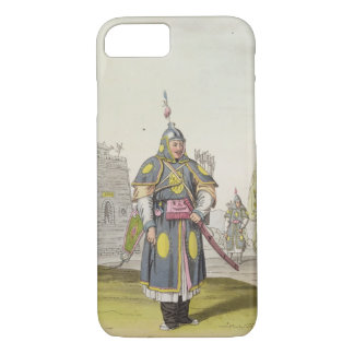 Chinese soldier in full battle dress, illustration iPhone 8/7 case