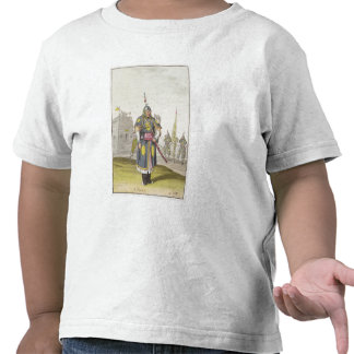 Chinese soldier in full battle dress, illustration tees