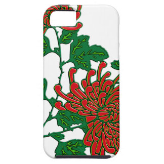 Chinese spider chrysanthemums  - deep red iPhone SE/5/5s case