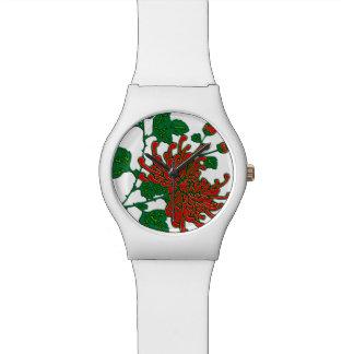 Chinese spider chrysanthemums  - deep red wrist watches