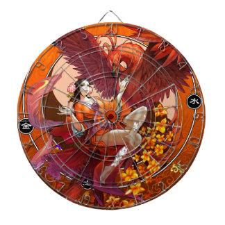 Chinese Spirit of the Phoenix w Chinese Elemental Dartboards