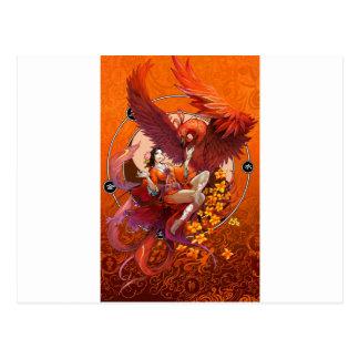 Chinese Spirit of the Phoenix w Chinese Elemental Postcard