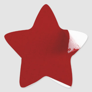 Chinese Star - quirky peeling design Star Sticker