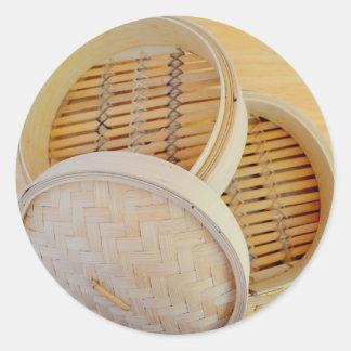 Chinese Steamer Basket Classic Round Sticker