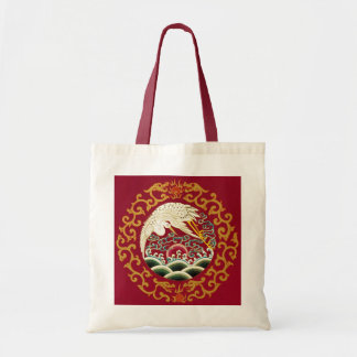 Chinese Stork Dragon Tote Bag