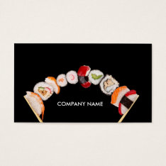 Chinese Stuff / Restaurant / Store Sushi Business Card at Zazzle