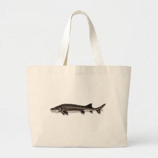 Chinese Sturgeon Large Tote Bag