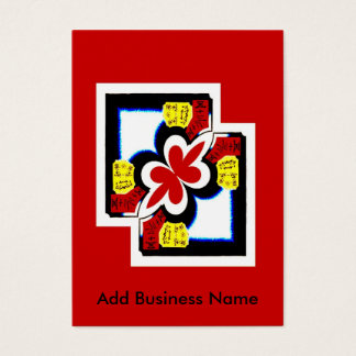 Chinese Style Abstract, Add Business Name Business Card
