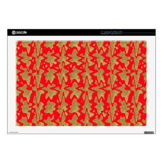 """Chinese style Red and Gold Design Pattern on gifts Decal For 17"""" Laptop"""