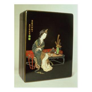 Chinese-style writing box postcard