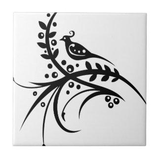 Chinese swirl floral design ceramic tile