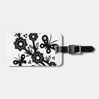 Chinese swirl floral design luggage tag