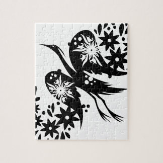 Chinese swirl floral design puzzle