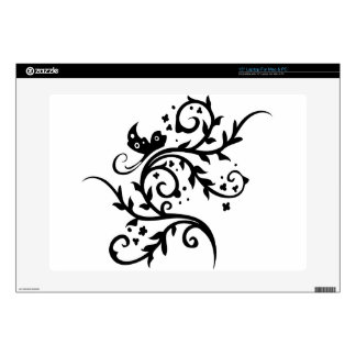 Chinese swirl floral design skins for laptops