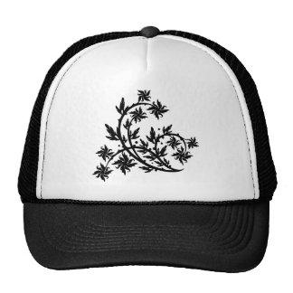 Chinese swirl floral design trucker hat