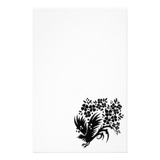CHINESE SWIRLS DOVE PEACE FLORAL ABSTRACT RANDOM B STATIONERY